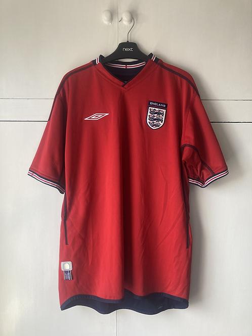 2002-04 ENGLAND AWAY SHIRT (EXCELLENT) XL