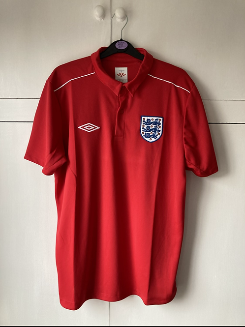 2010-11 ENGLAND UMBRO TRAINING SHIRT (EXCELLENT) L