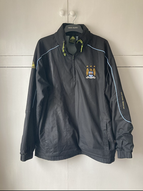 2008-09 MANCHESTER CITY LE COQ SPORTIF TRACK JACKET (VERY GOOD) L