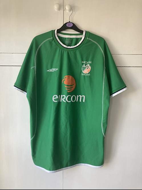 2002 IRELAND 'WORLD CUP' HOME SHIRT (VERY GOOD) L