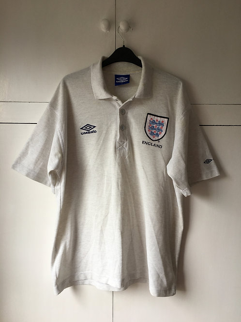 1996-98 England Umbro Polo T-Shirt (Very Good) L
