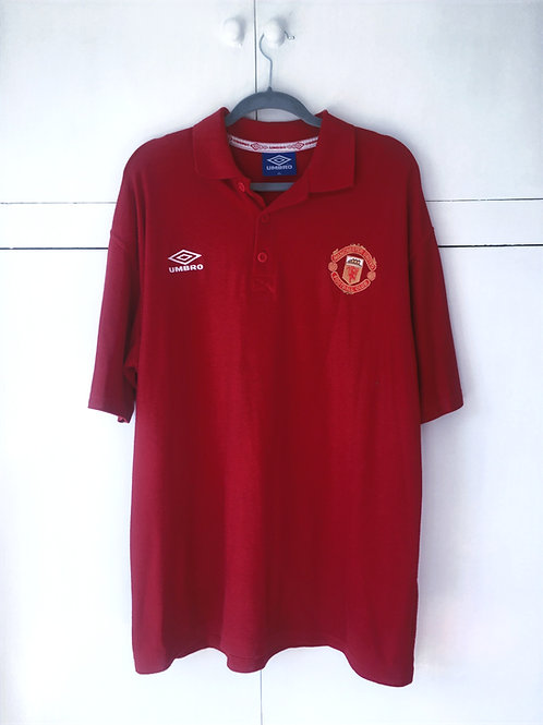 1998-99 Manchester United Umbro Training Shirt (Excellent) XXL