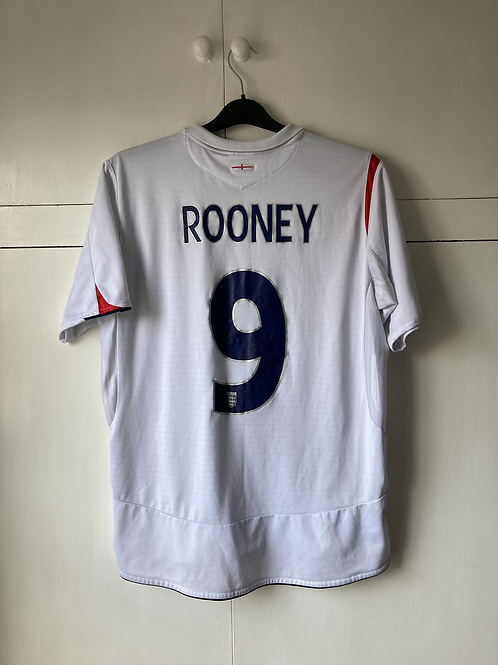 2005-07 ENGLAND HOME SHIRT ROONEY #9 (EXCELLENT) L