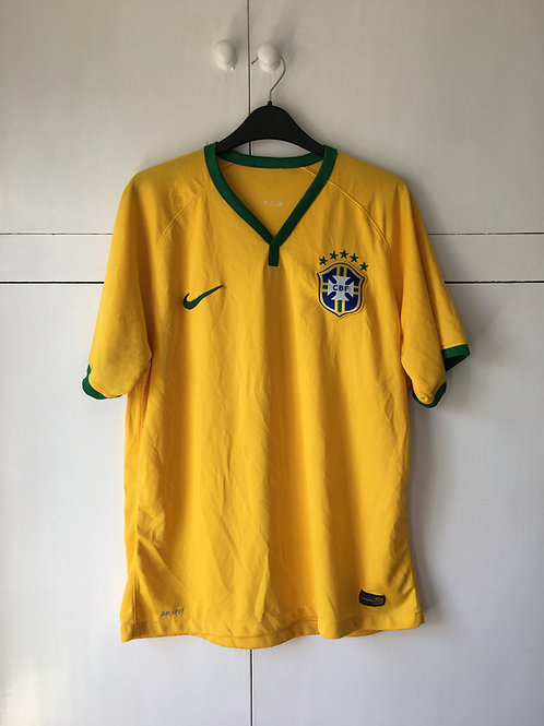 2014-15 Brazil Home Shirt (Good) L