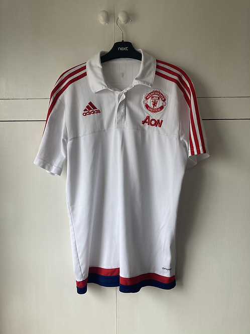 2018-19 Manchester United Adidas Polo T-shirt (Excellent) M