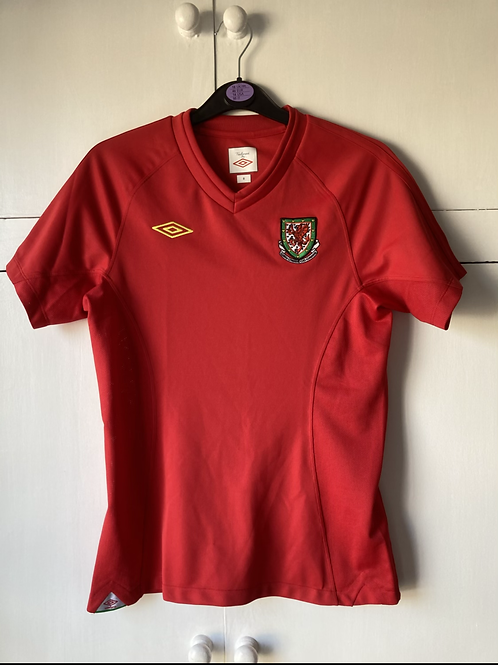 2010-11 WALES AWAY SHIRT (EXCELLENT) WOMENS SIZE 8