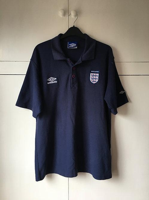 1996-98 England Umbro Polo T-Shirt (Very Good) L