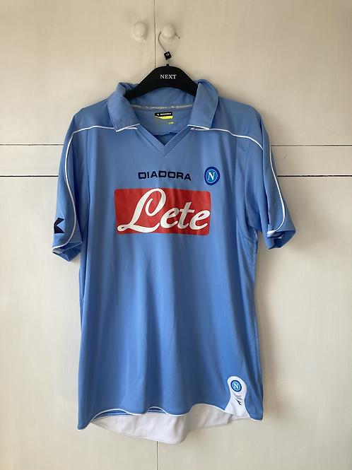2008-09 Napoli Home Shirt #7 Lavezzi (Good) L