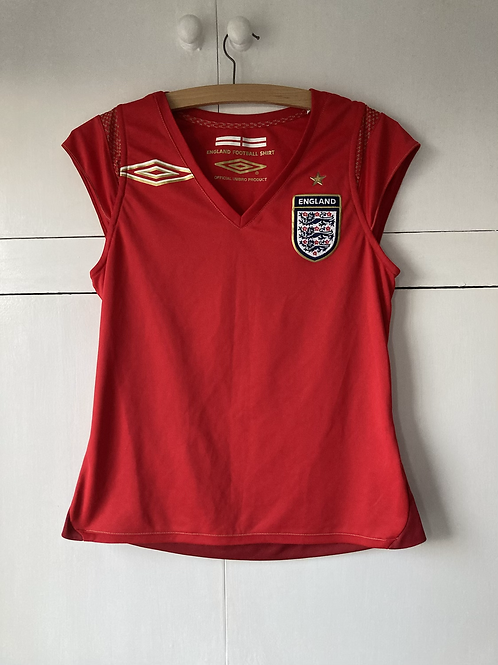 2005-06 England Umbro Sleeveless Home Ladies Shirt (Excellent) 12