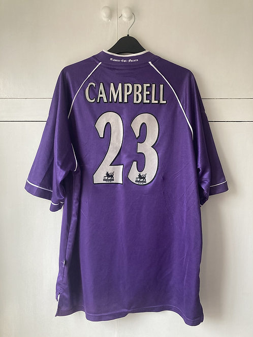 1998-99 TOTTENHAM AWAY SHIRT CAMPBELL #23 (Fair) L