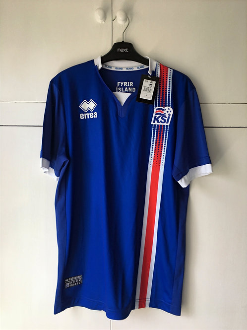 2016 Iceland Home Shirt *W/Tags* (Excellent) M