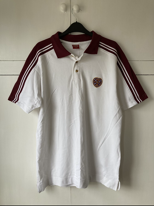 2009-10 HEARTS POLO SHIRT (EXCELLENT) M