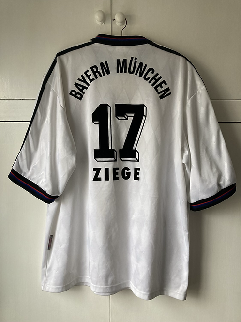 1995-97 BAYERN MUNICH AWAY SHIRT ZIEGE #17 (EXCELLENT) XL