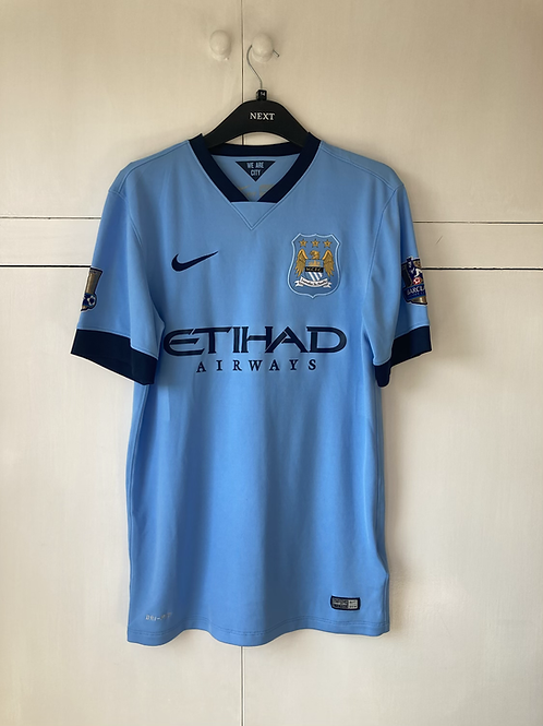 2014-15 Manchester City Home Shirt Jovetic #35 (Excellent) S