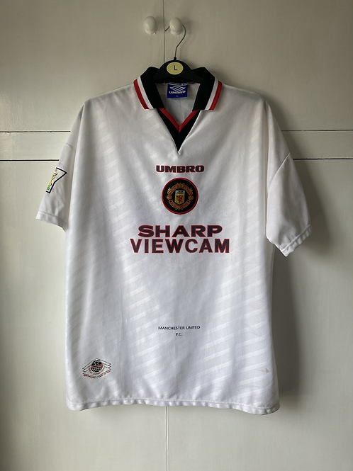 1996-97 MANCHESTER UNITED AWAY SHIRT KEANE #16 (EXCELLENT) XL