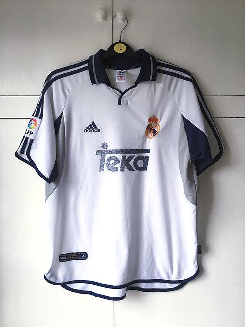2000-01 Real Madrid Home Shirt (Fair) XL