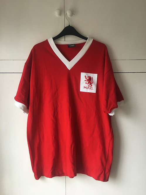 1950's Middlesbrough Retro Home Shirt (Excellent) L *Reproduction*
