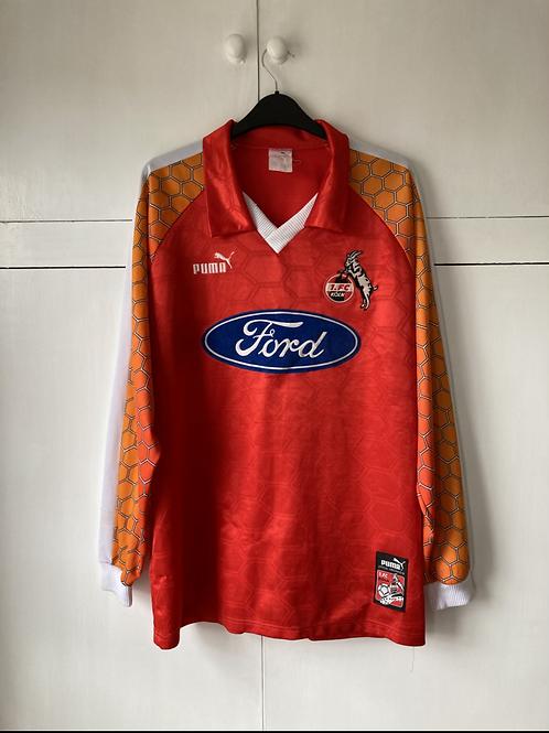 1997-98 FC KOLN HOME SHIRT *SIGNED HOLGER GAIBMAUER* (EXCELLENT) XL