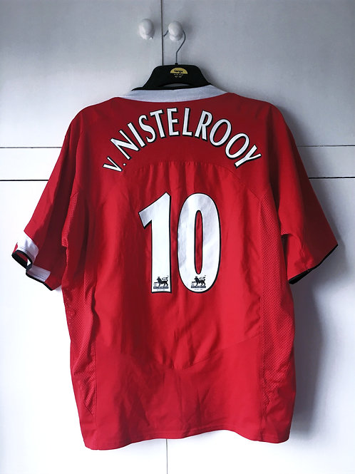 2004-06 Manchester United Home Shirt v.Nistelrooy #10 (Excellent) XL