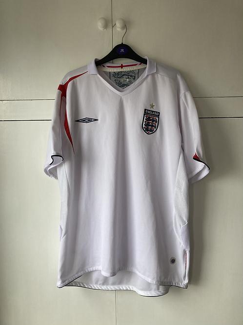 2005-07 England Home Shirt (Excellent) XL