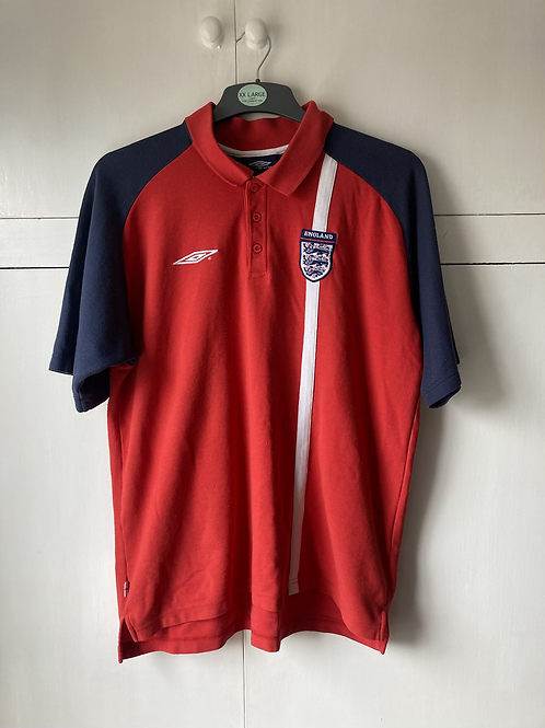 2001-03 England Polo T-Shirt (Very Good) XL