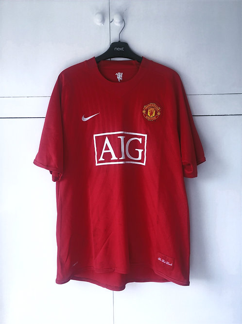 2007-09 Manchester United Home Shirt (Good) XL