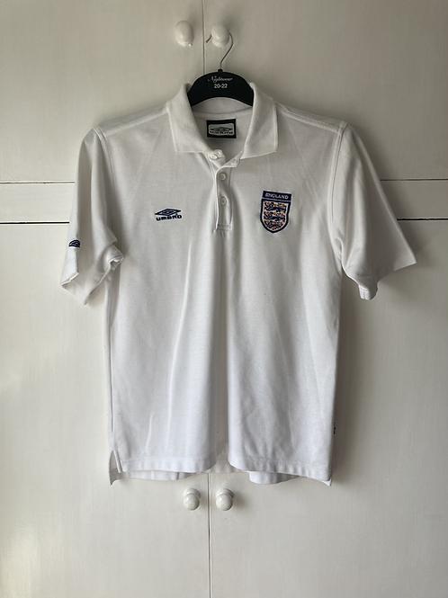 1999-01 England Umbro Polo T-Shirt (Very Good) S