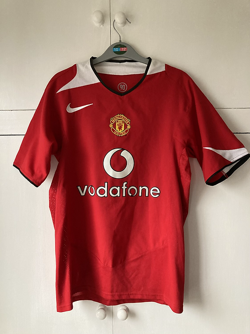 2004-06 MANCHESTER UNITED HOME SHIRT (EXCELLENT) S