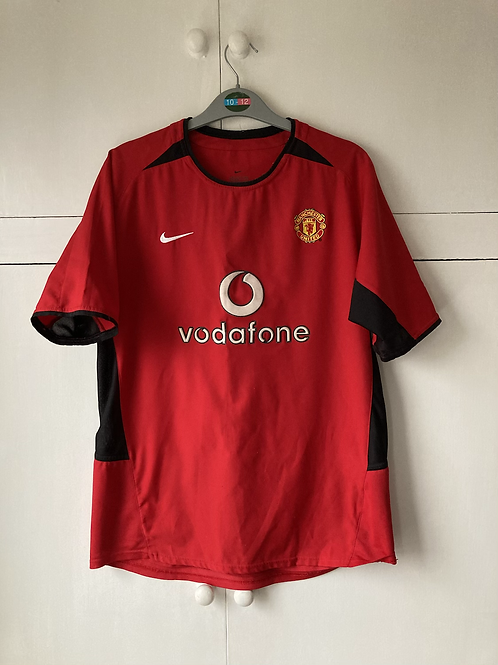 2002-03 MANCHESTER UNITED HOME SHIRT (EXCELLENT) XL BOYS / XS