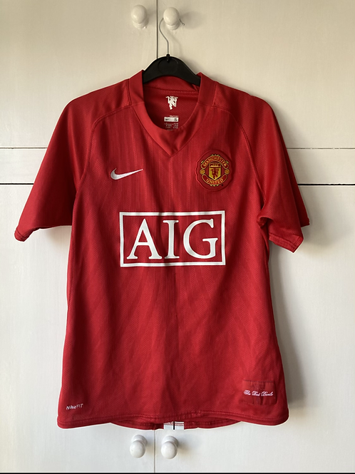 2007-09 Manchester United Home Shirt (Excellent) S