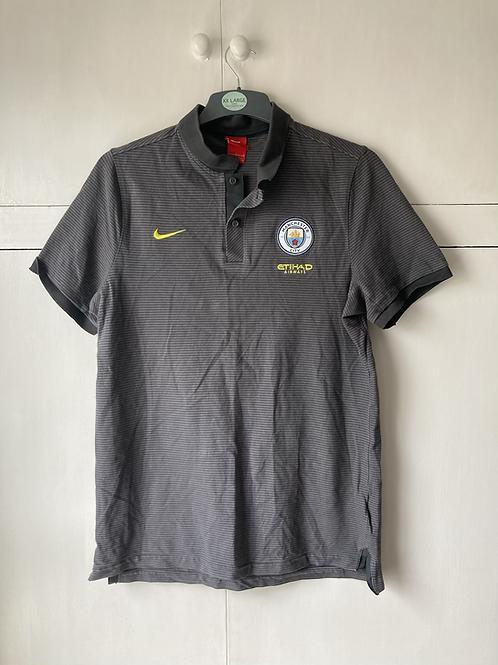 2018-19 Manchester City Polo T-Shirt (Excellent) L