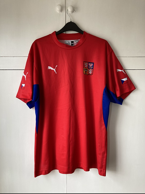 2002-04 CZECH REPUBLIC HOME BASIC SHIRT (EXCELLENT) XXL