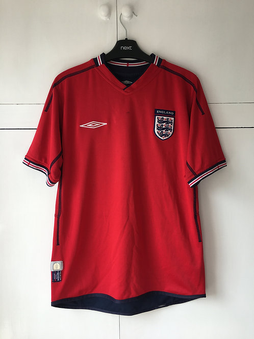 2002-04 England Away Shirt (Very Good) M