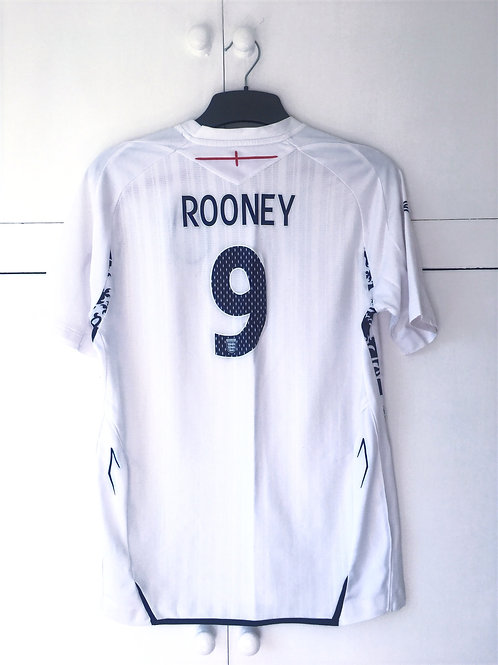 2007-09 England Home Shirt Rooney #9 (Excellent) XL Boys