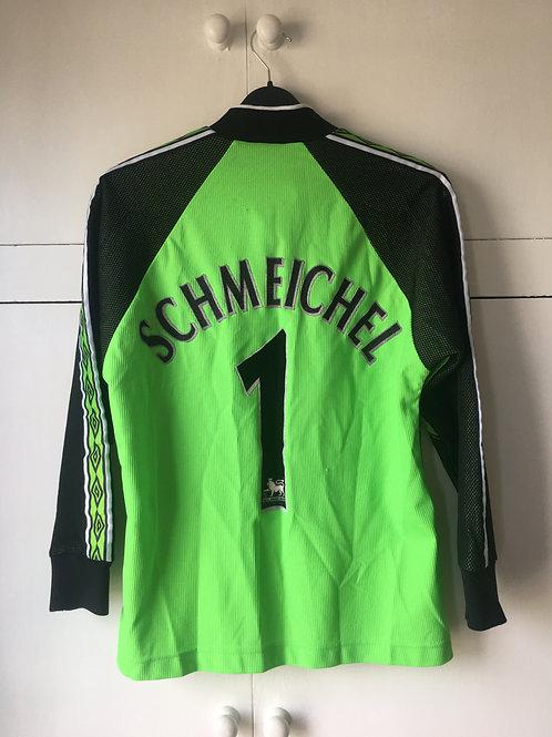 1998-99 Manchester United GK Shirt Schmeichel #1 (Excellent) L.Boys
