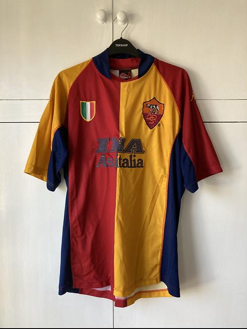 2001-02 Roma European Shirt (Very Good) L