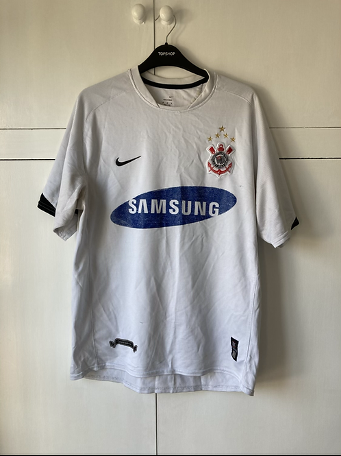 2006-07 Corinthians Home Shirt #10 (Tevez) (Good) M