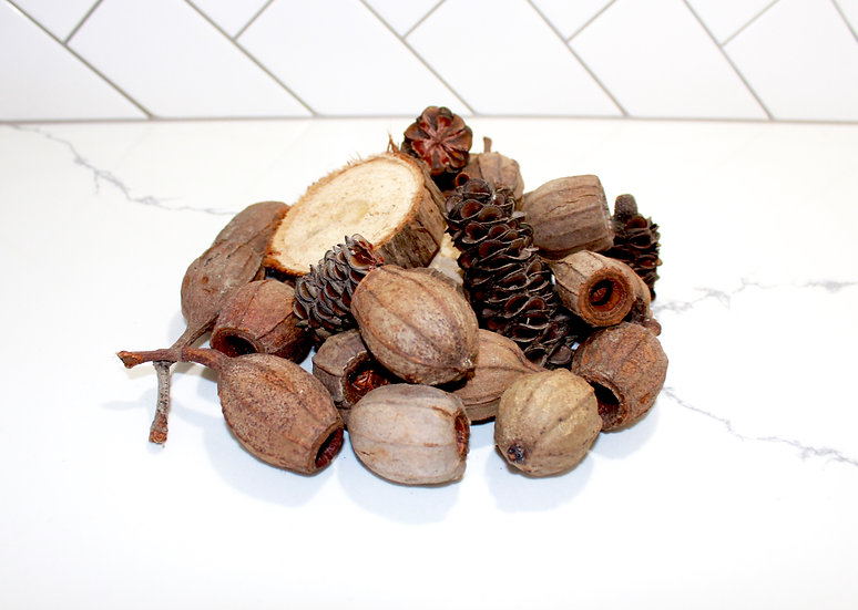Premium Pack - Eucalyptus Slices, Gum Nuts and Banksia Cones - priced from $25