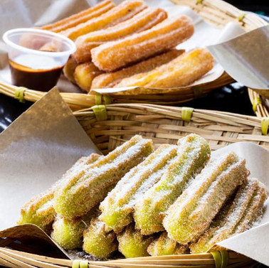 Churros Silver Set (55 Pcs + Variety Dips and Toppings)
