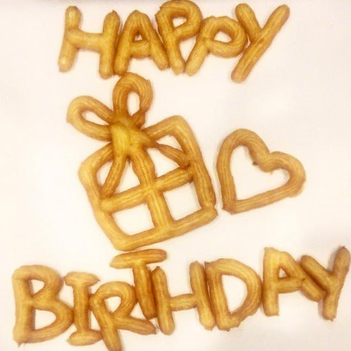 Birthday Box + 25 Pieces Original Churros