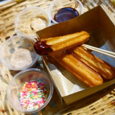 3 Original Churros + 2 Dips + 2 Toppings