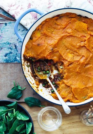 Sweet Potato and Pumpkin Pie