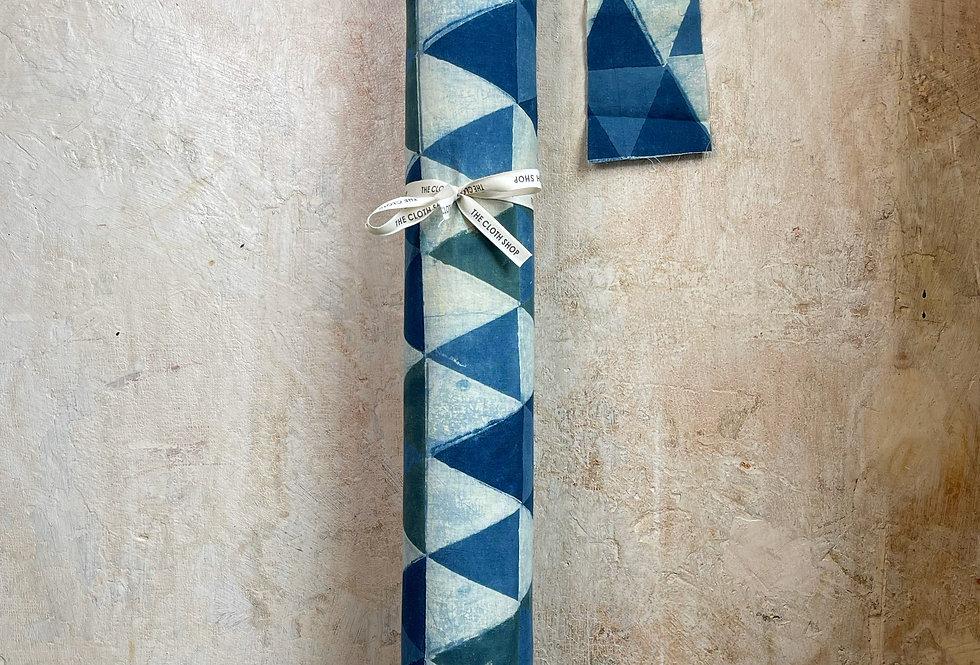 Herbal Dyed Block Print -Blue Mosaic