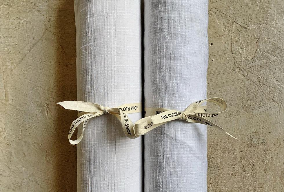 Organic Cotton - White Checks