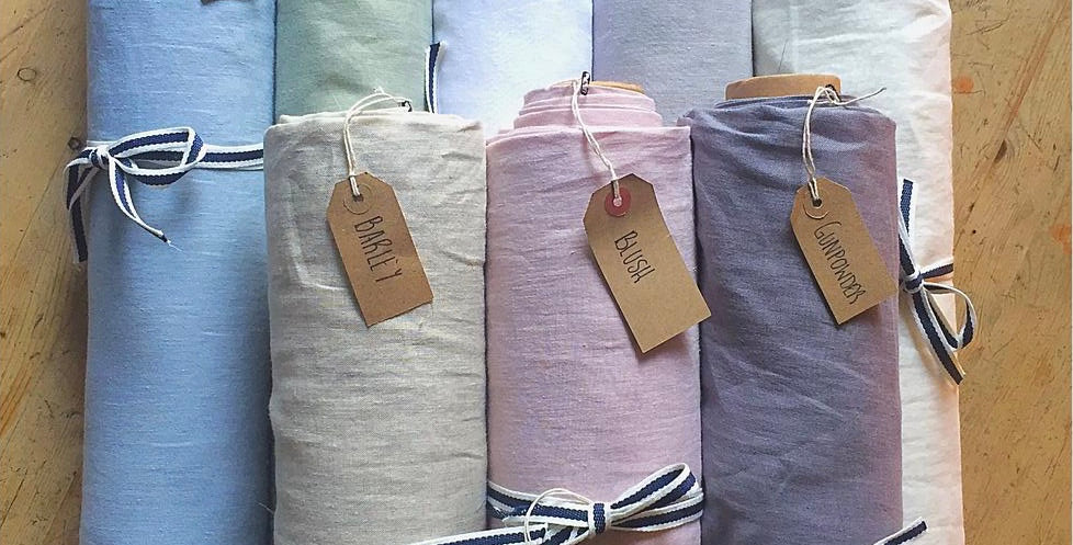Double Width Washed Linen