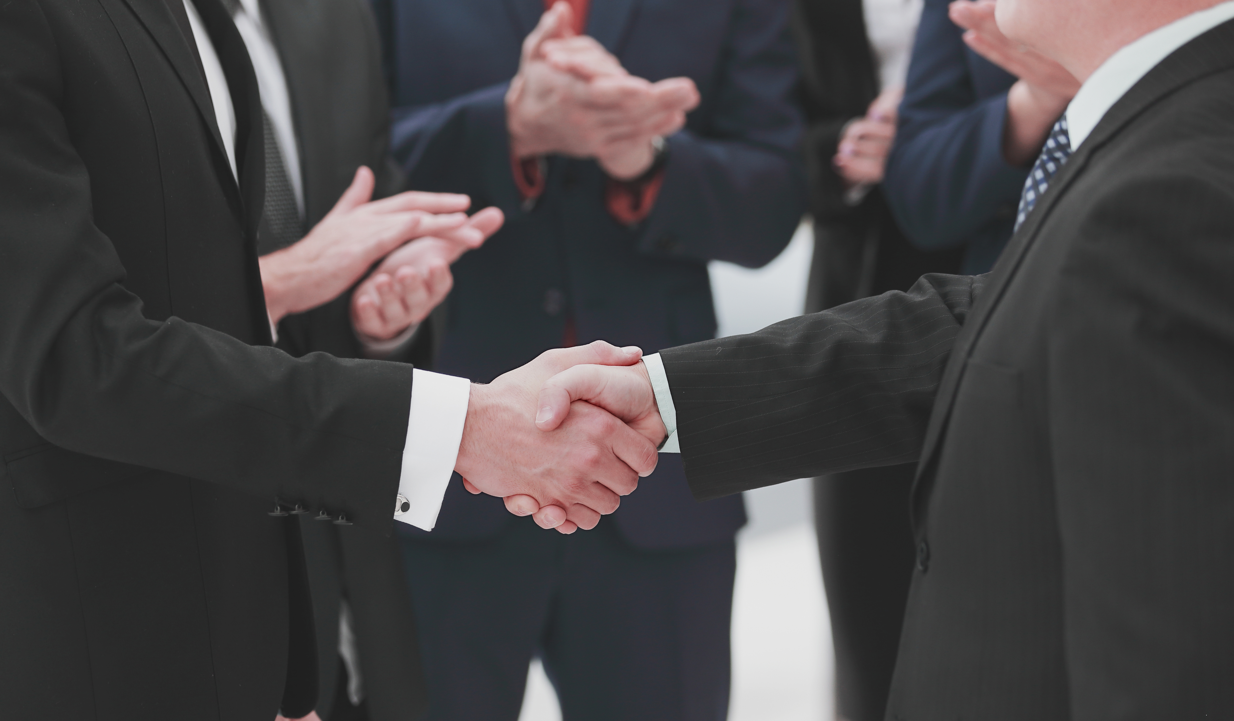 close up. reliable handshake of business