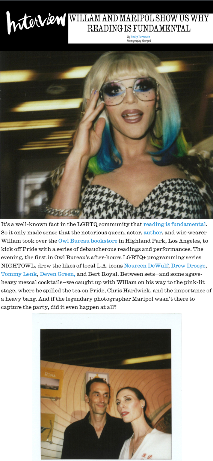 willam deven interview magazine