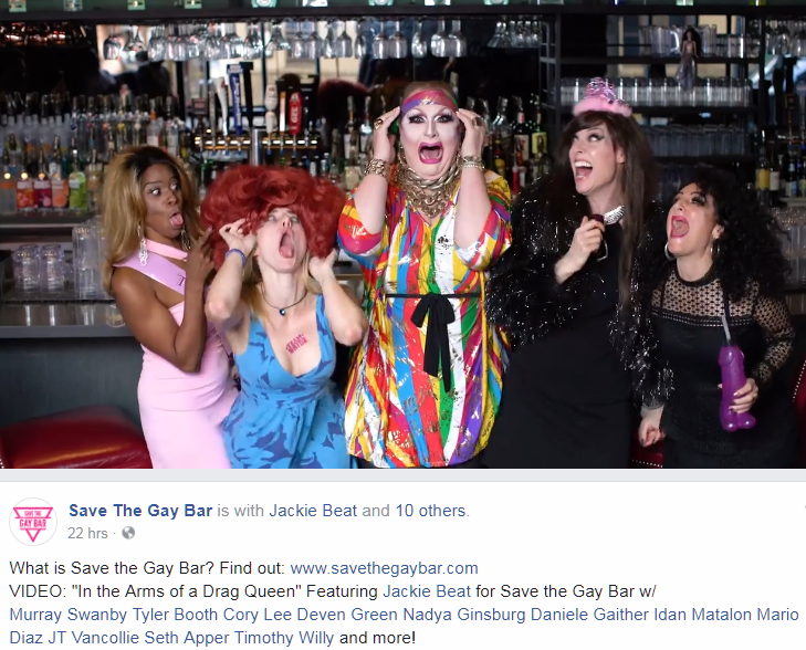 Save The Gay Bar - Jackie Beat video