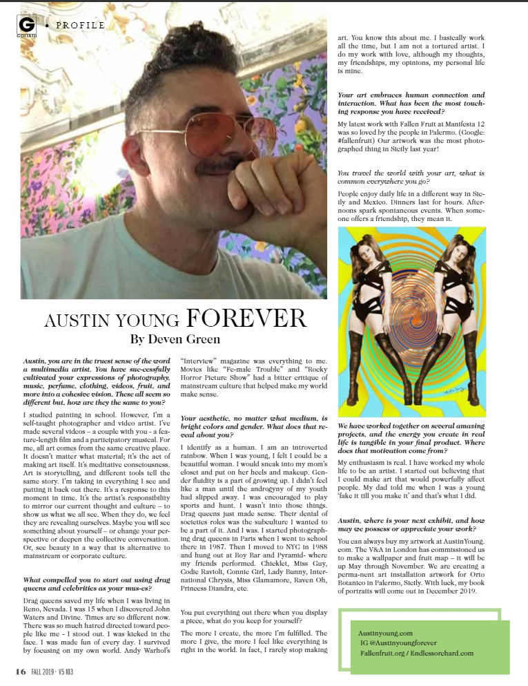 AUSTIN YOUNG goliath interview fall 2019