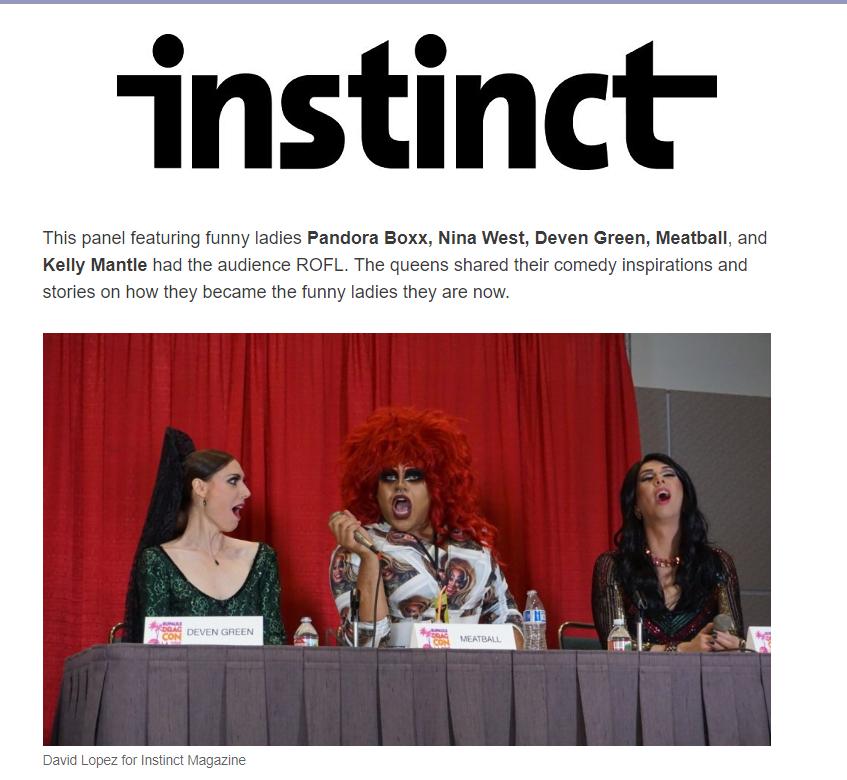 Instinct Magazine rupauls dragcon 2019